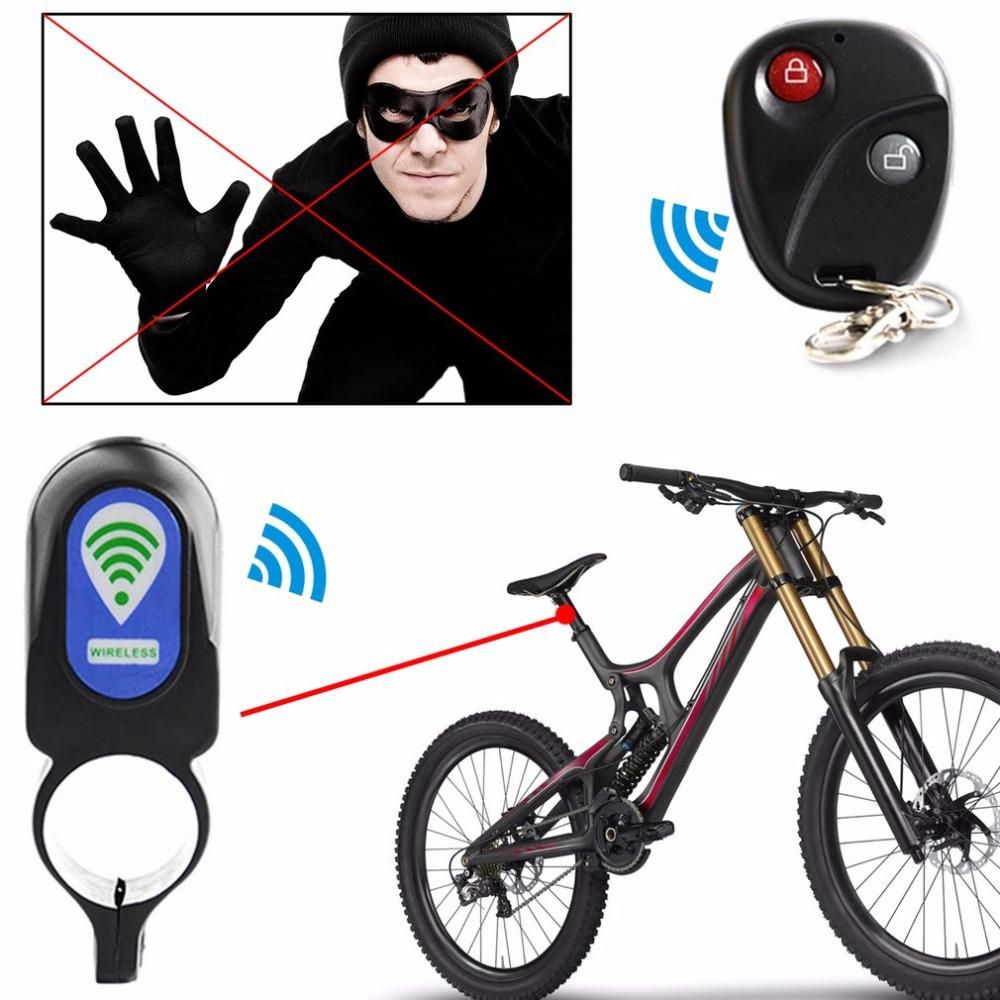 Bicycle Alarm Lock Anti Theft Lock With Remote Controller Riding