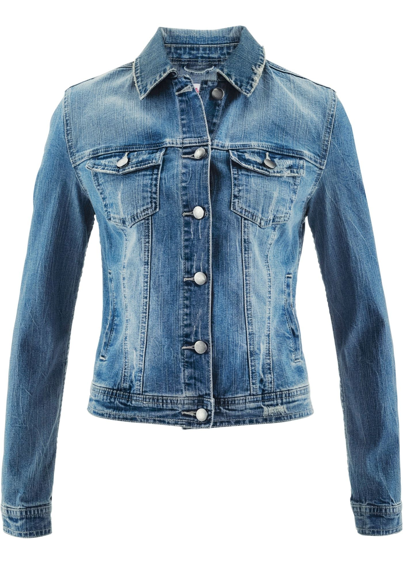 newest b95e6 102ae Attraktive Jeans-Jacke im leichten Used-Look | Products in ...