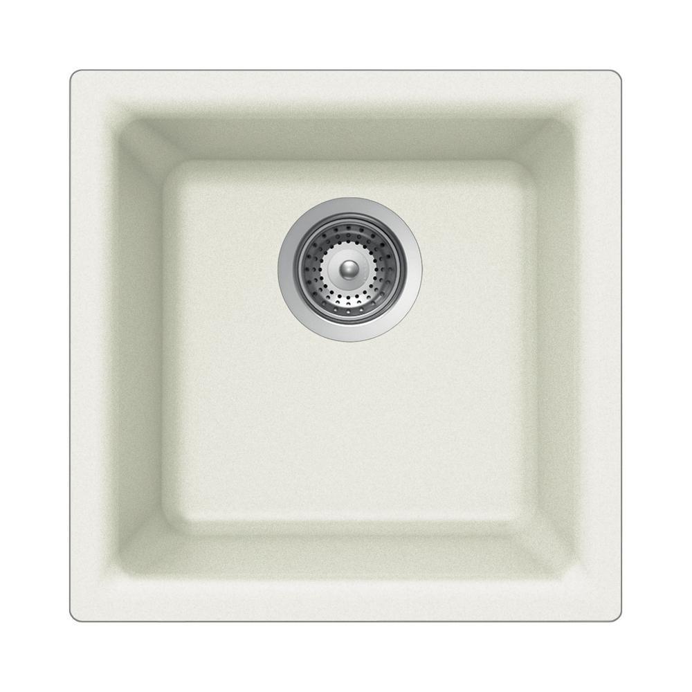 houzer 16 composite granite dual mount bar prep sink white e 100 rh pinterest com