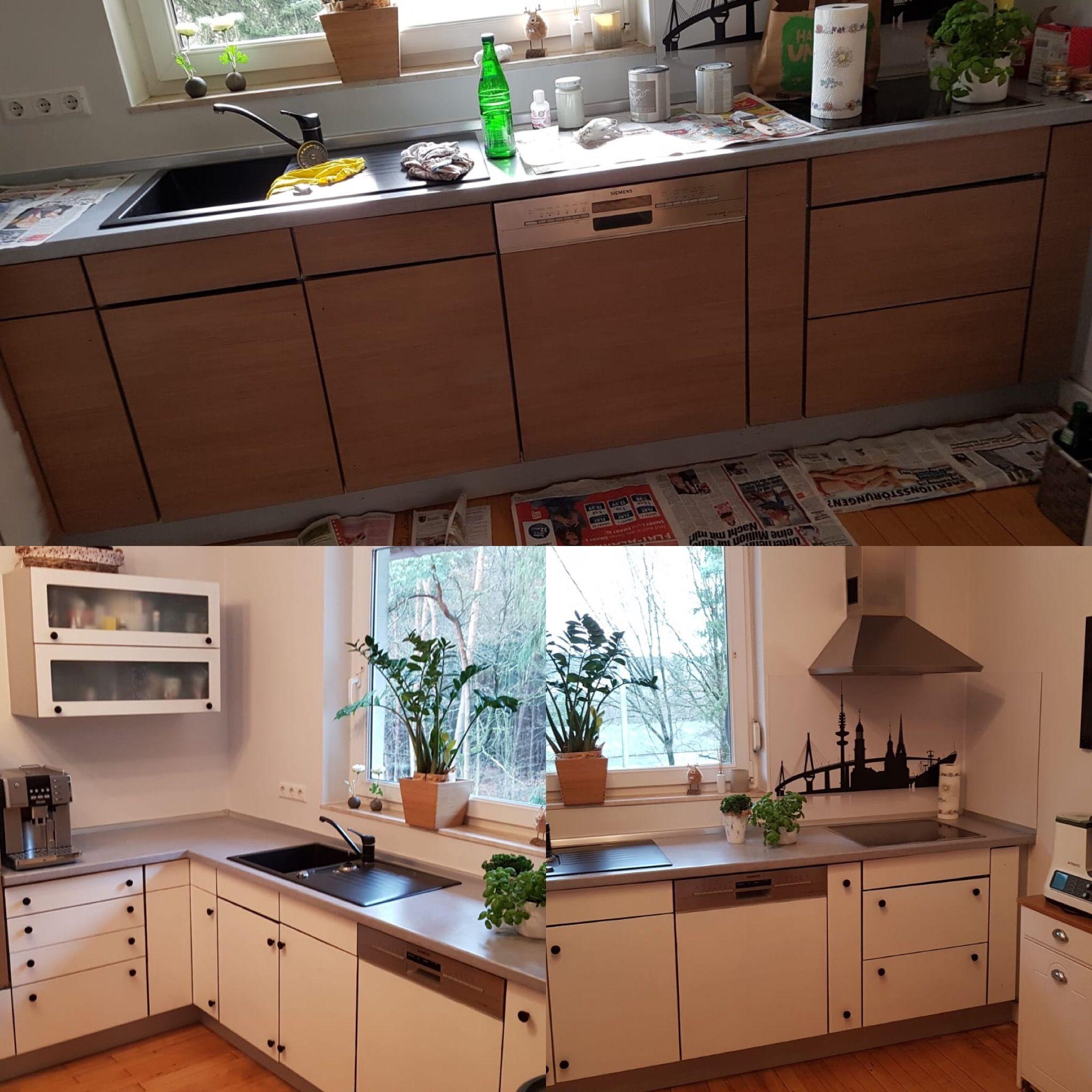 Küche Streichen Mit Kreidefarbe Und Kreidelacken Misspompadour Küchen Streichen Alte Küche Braune Küchen