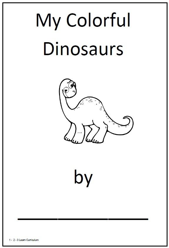 dinosaur theme for preschool | have added a my colorful dinosaurs ...