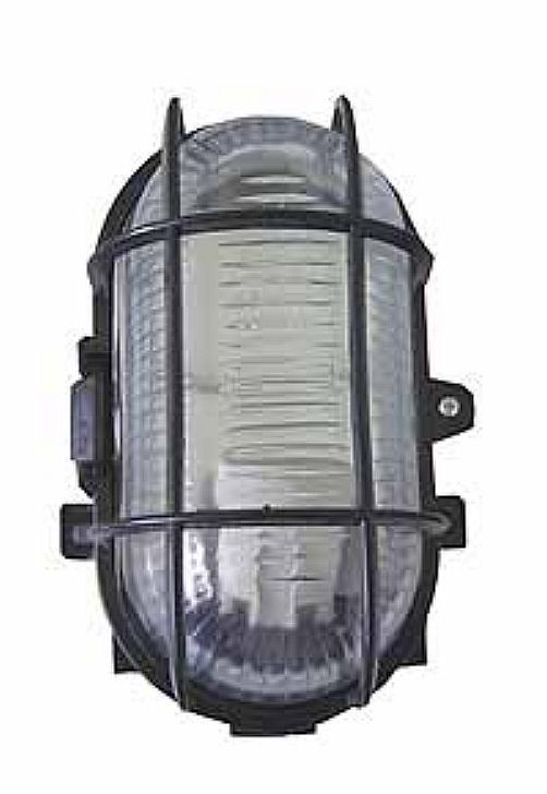bulkhead light lamp with protective wire guard for indoor outdoor