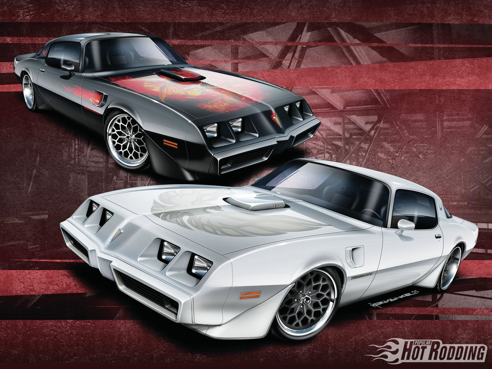 Two 1980 pontiac firebird trans ams