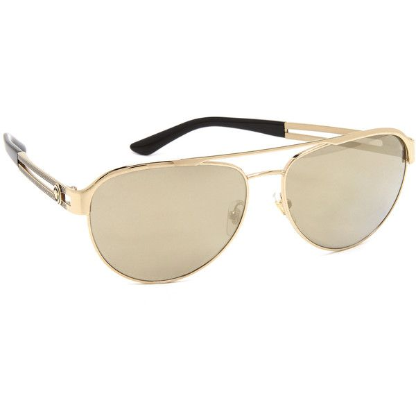 6ab6ae0424 Versace Aviator Sunglasses ( 225) ❤ liked on Polyvore featuring  accessories