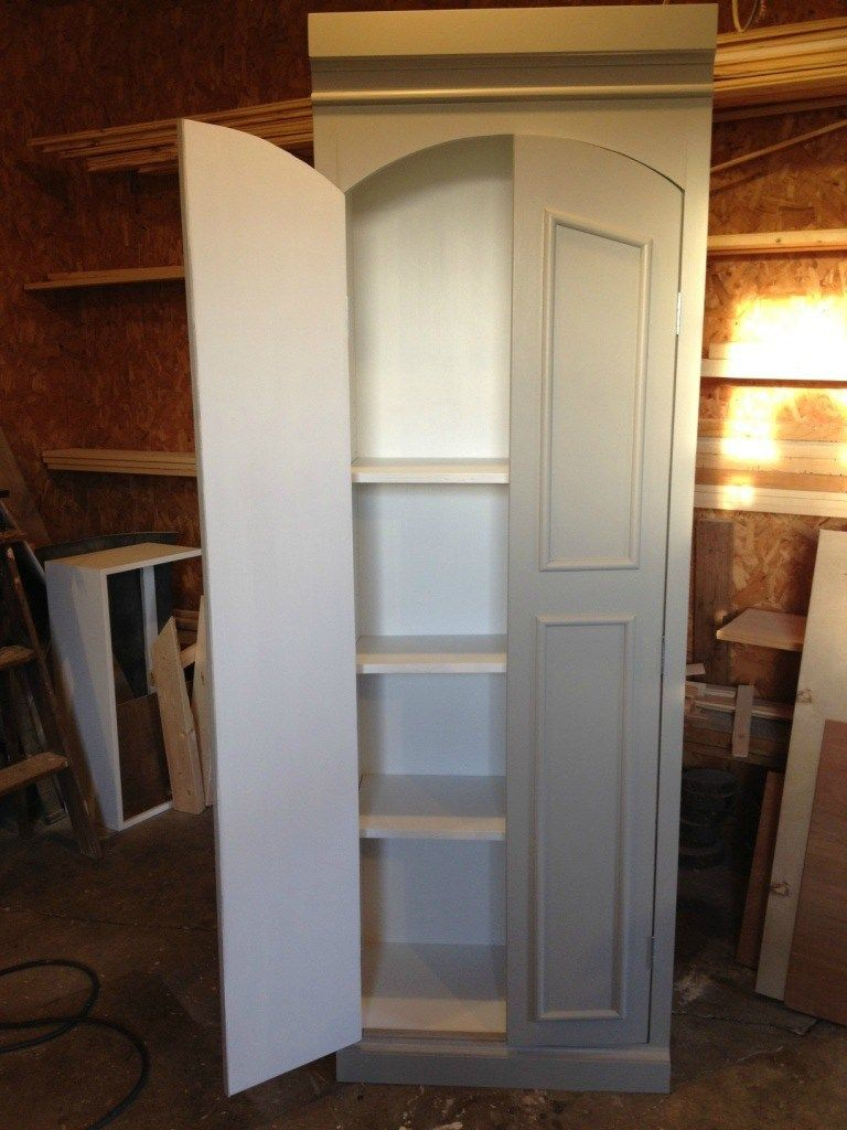 DIY Ballard Designs Knock Off Pantry Cabinet #pantrycabinet