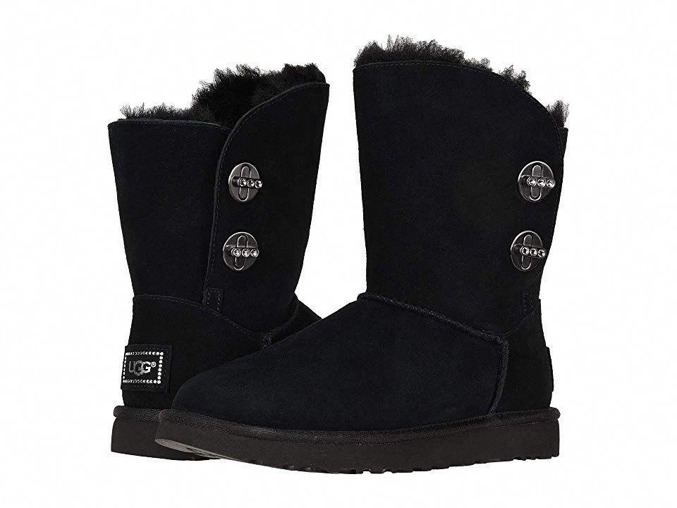 ba4d8b19536 UGG Short Turnlock Bling Women's Pull-on Boots Black #Uggboots | Ugg ...