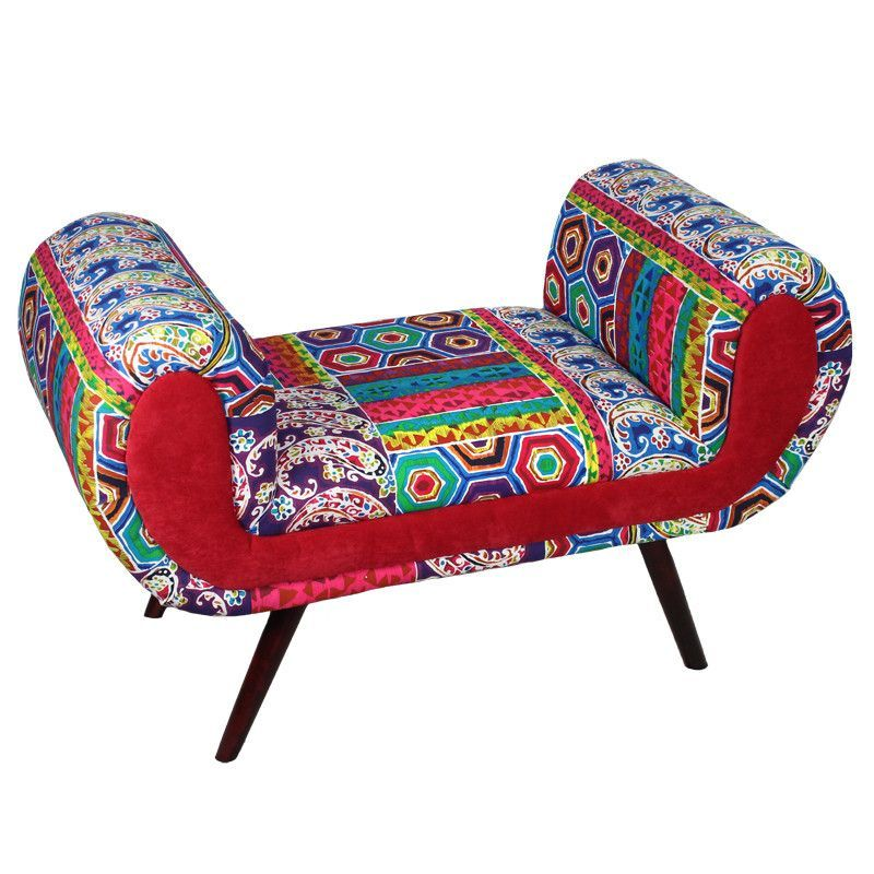Stunning And Comfortable Fabric Wooden Bench Cheap Home
