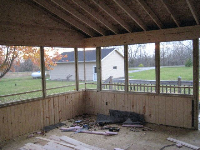 Screened Porch With Knee Wall - Google Search