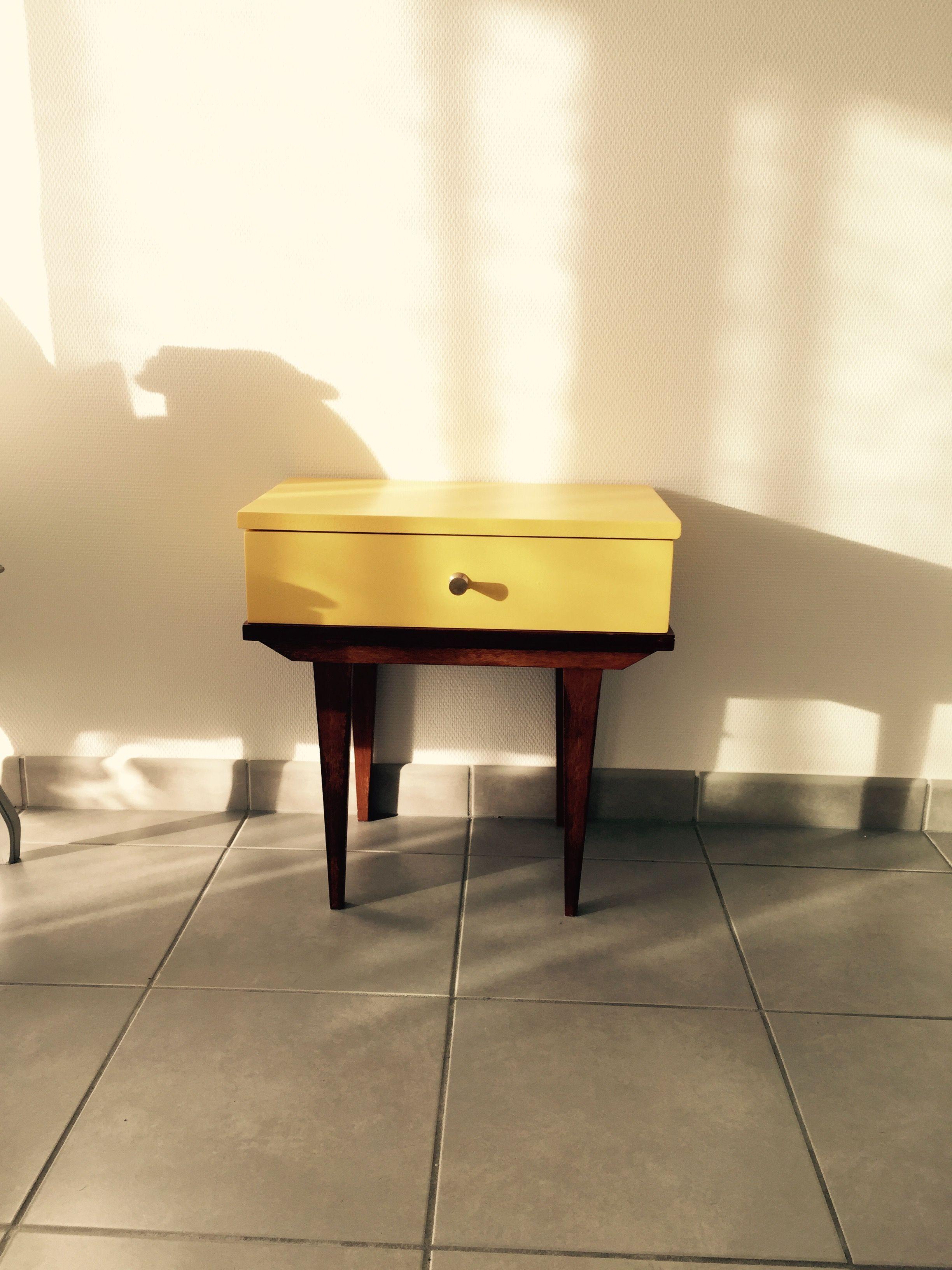 Petite table vintage, années 60, refaite avec amour. Idée déco ...