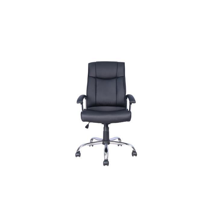 Felix Fauteuil De Bureau Simili Noir L 55 X P 50 X H 110 120cm Fauteuil Bureau Chaise De Bureau Confortable Et Chaise Confortable