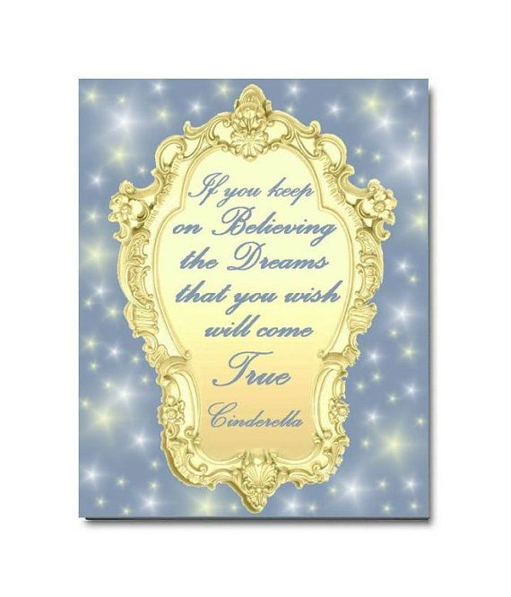 Cinderella Nursery, Princess Quotes, Kids Decor, Nursery Wall Art ...