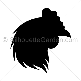 Chicken Head Side View Outline Icon Icon Outline Pictograph