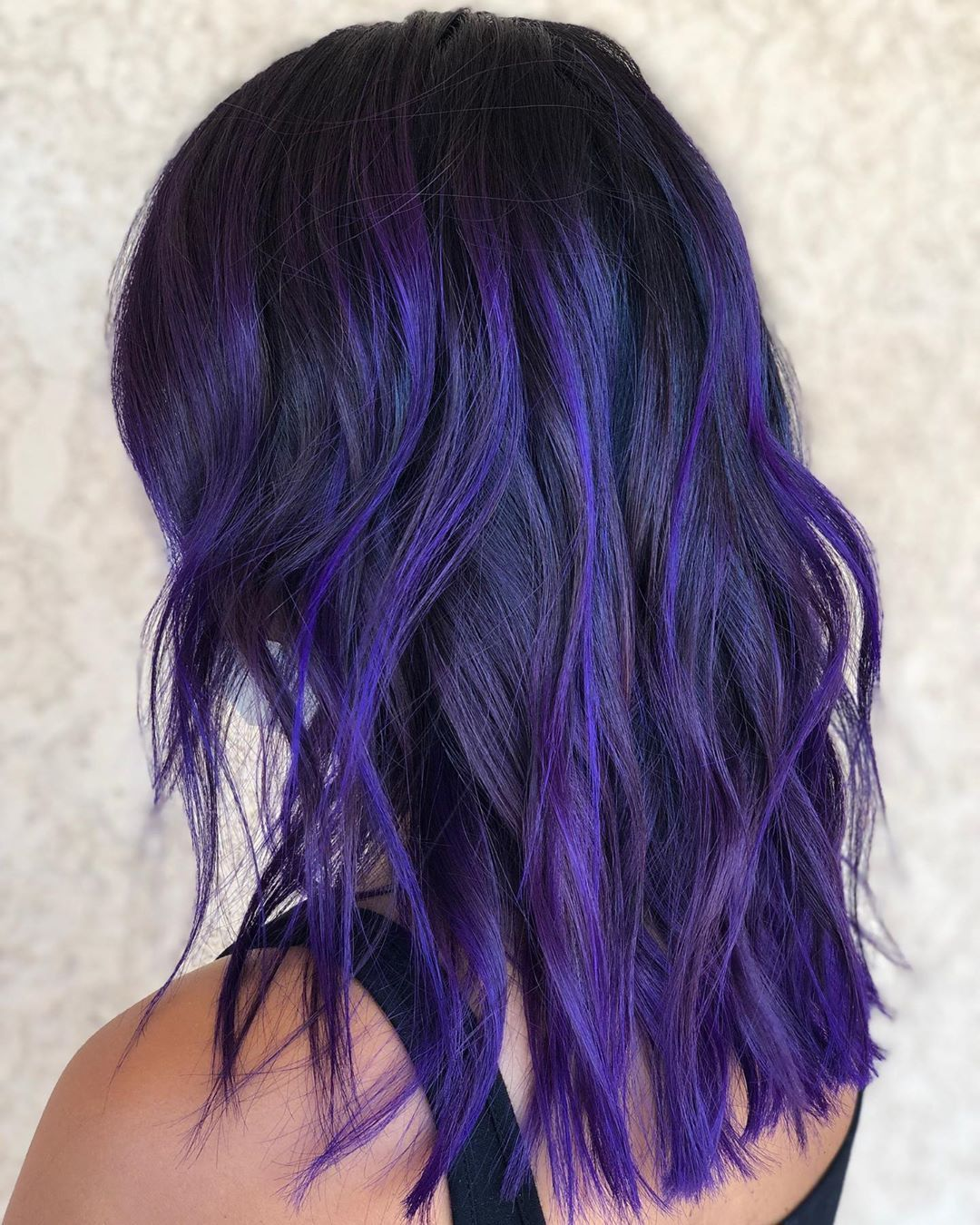 10+ Dark roots purple hair inspirations