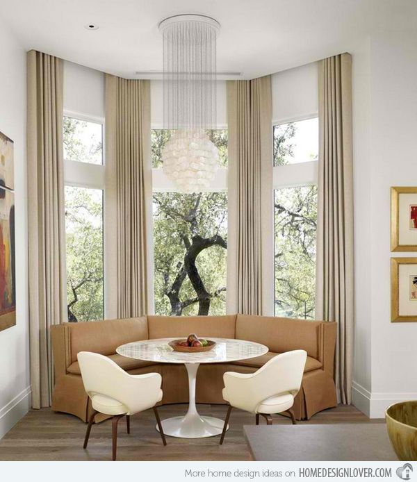 15 bay window ideas for inspiration table and chairs for Contemporary bay window designs