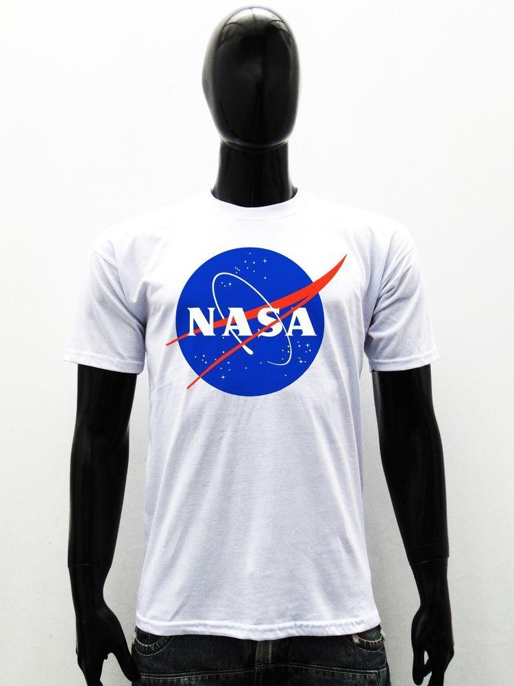 NASA Logo Print Long Sleeve Hoodie Space Astronaut Vintage Retro Sweatshirt New