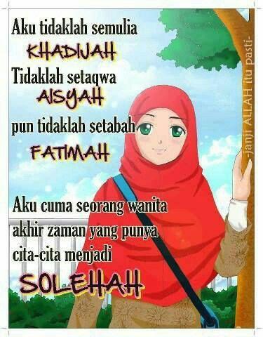 Hikmah Cita Menjadi Wanita Solehah Gambar Poster Motivasi
