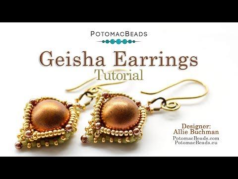 Photo of Geisha Earrings- DIY Jewelry Making Tutorial by PotomacBeads