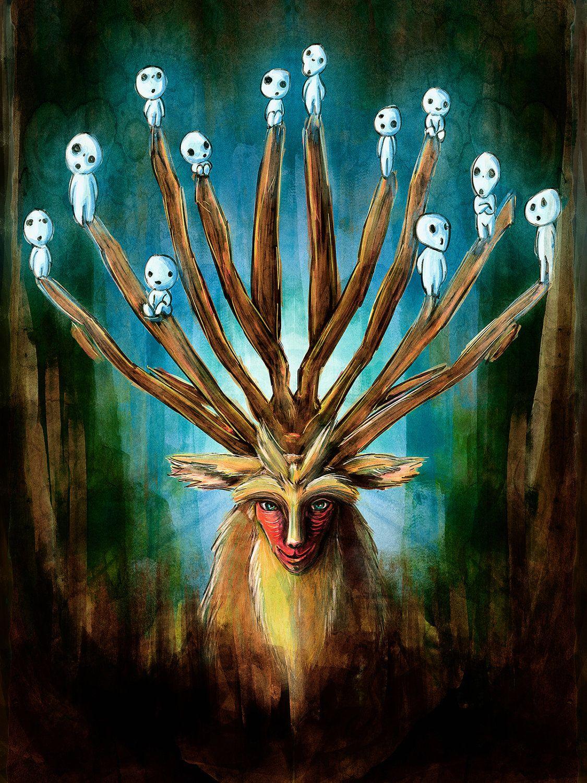 L Esprit De La Foret : esprit, foret, L'esprit, Forêt, Sylvains, Studio, Ghibli,, Princesse, Mononoke,, Ghibli, Films