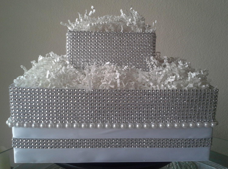 WHITE Wedding Rhinestone Cake Pop Display Stand Holder