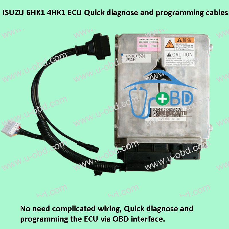 Isuzu 6hk1 4hk1 Ecu Quick Diagnose And Programming Cables Ecu Cables Car Ecu