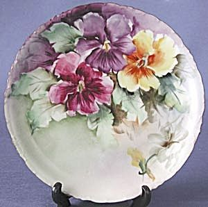 Rosenthal Hand Painted Pansy Plate (Hand Painted \u0026 Decorative Plates Floral) at Silversnow Antiques & Rosenthal Hand Painted Pansy Plate (Hand Painted \u0026 Decorative Plates ...
