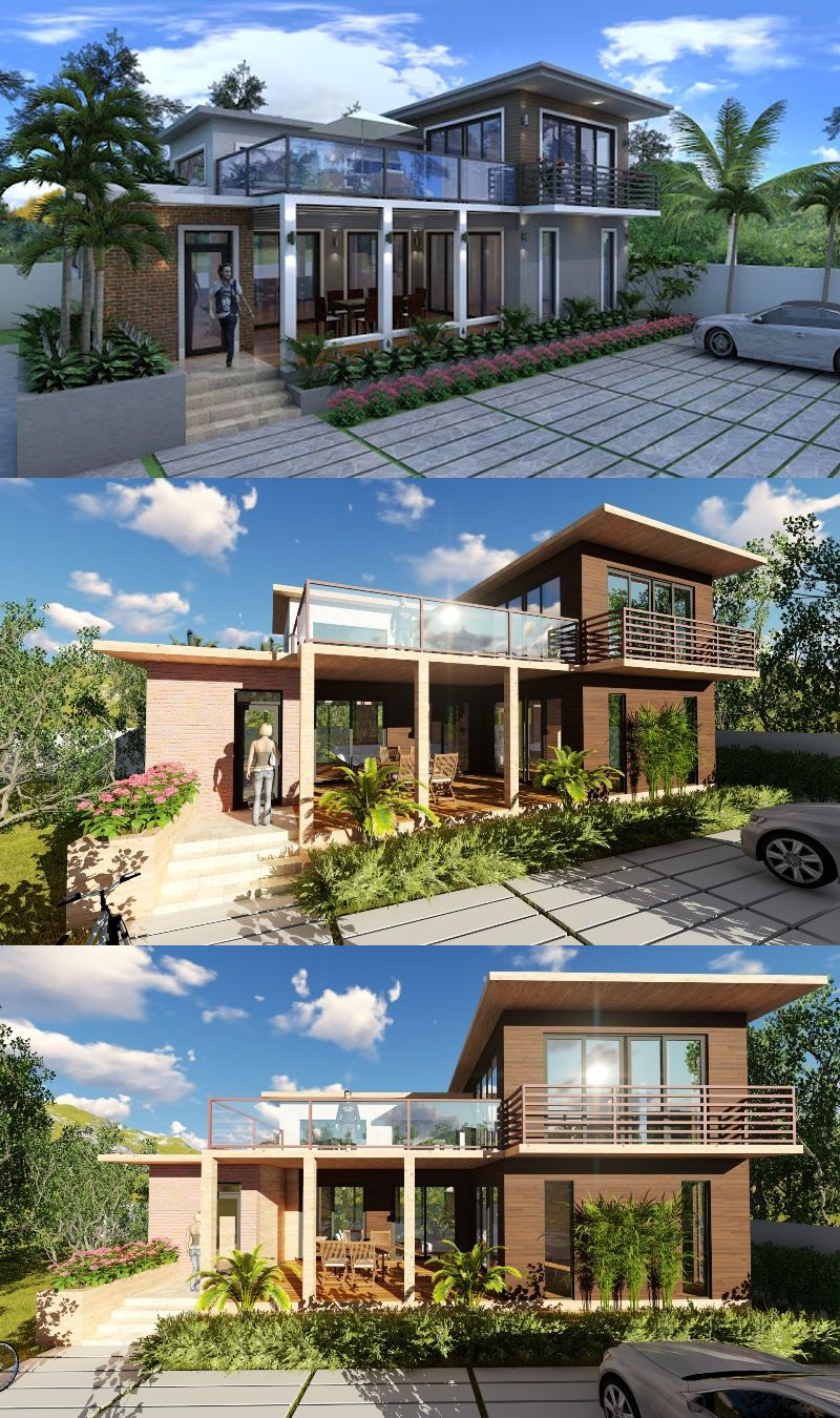 Two Storey Rest House Design Rest House Beach House Design Tropical House Design