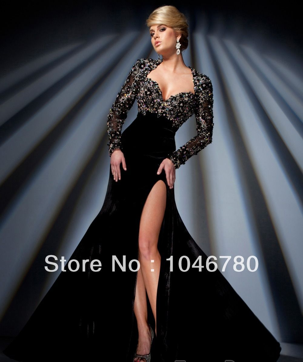 Hot selling sweetheart cap full sleeve appliques beading sequined