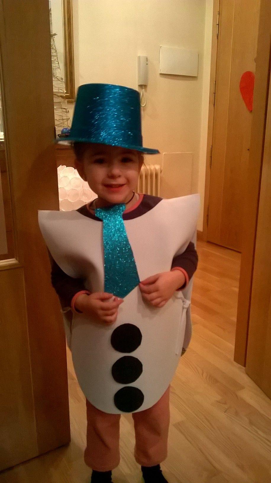 Disfraz Muñeco De Nieve Con Goma Eva Snowman Costume Custom Christmas Costumes