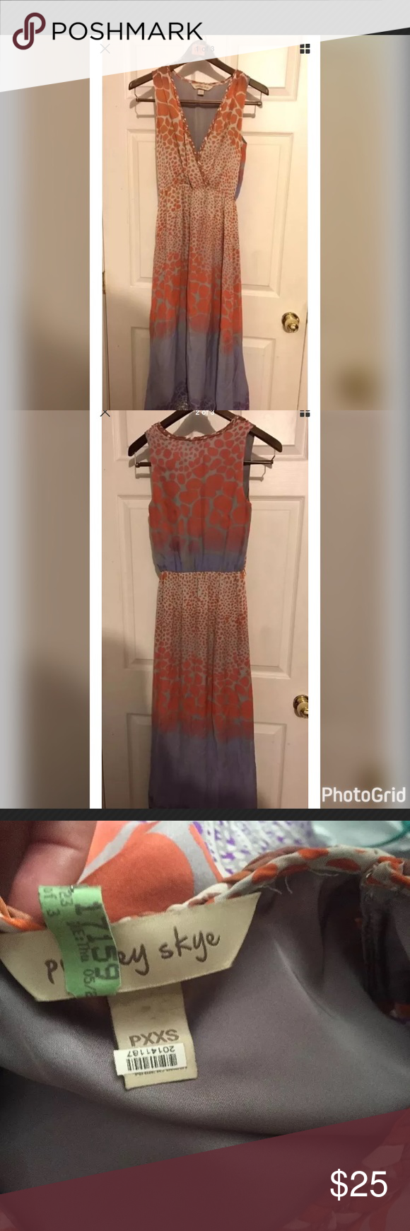 Gorgeous Presley Skye silk dress pxxs Gorgeous dress petite xxs but fits more like xs. Excellent condition only worn a few times, I offer a 20 percent discount when you bundle 2 or more items. Presley Skye Dresses Maxi