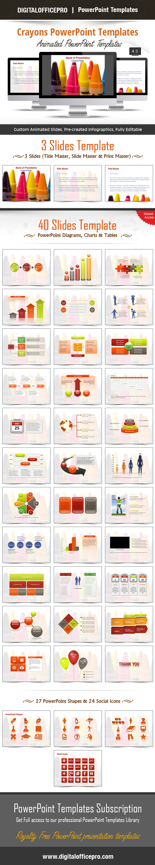 Crayons powerpoint template backgrounds impress and engage your audience with crayons powerpoint template and crayons powerpoint backgrounds from digitalofficepro toneelgroepblik Choice Image