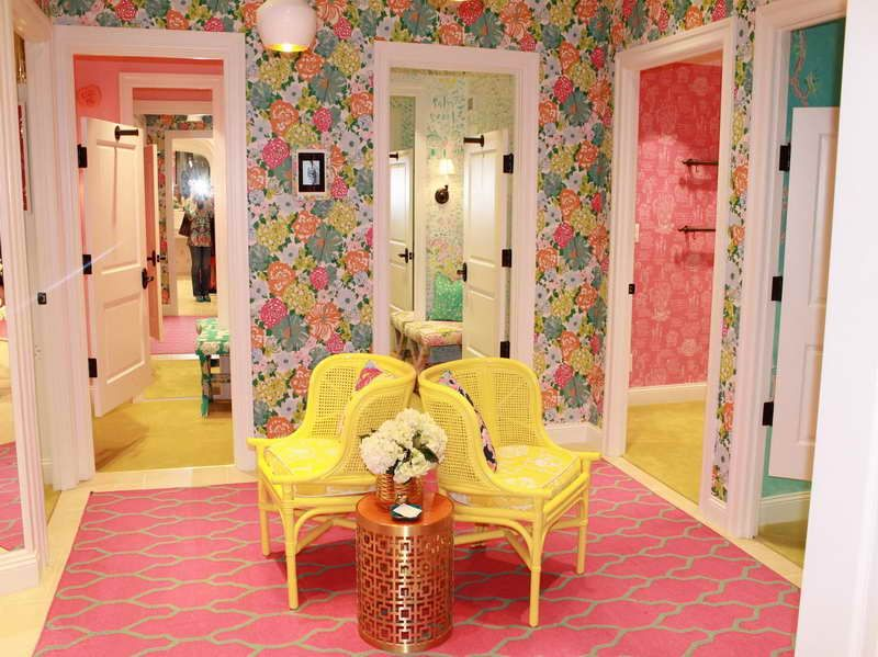beautiful and elegant design of the lilly pulitzer room decors with flower  wallpaper   Lilly Pulitzer. stylish bathroom design ideas youll love etagere decorating