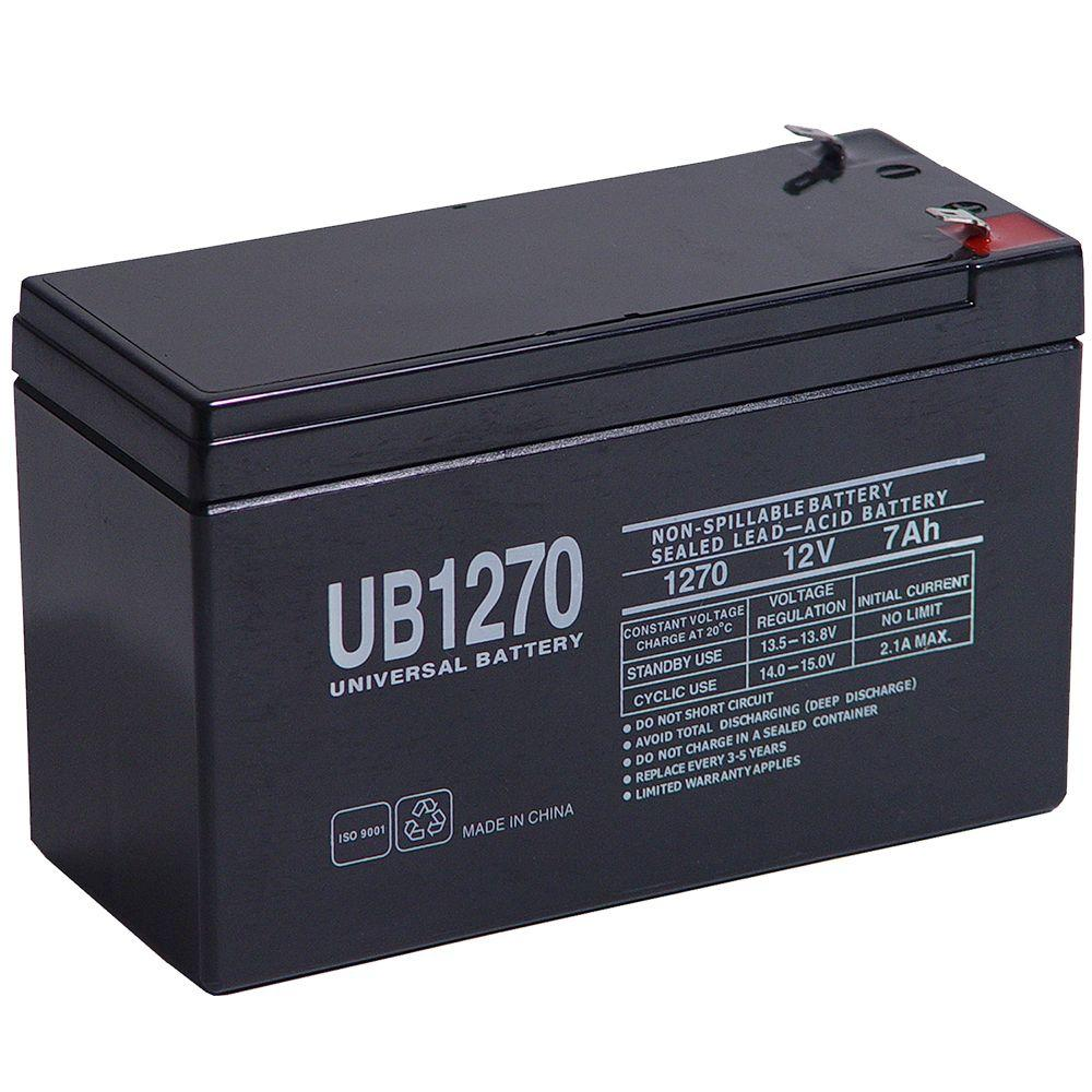 Upg Sealed 12 Volt 7 Ah Capacity F1 Terminal Agm Battery Apc Smart Ups Electric Skateboard Charger Accessories