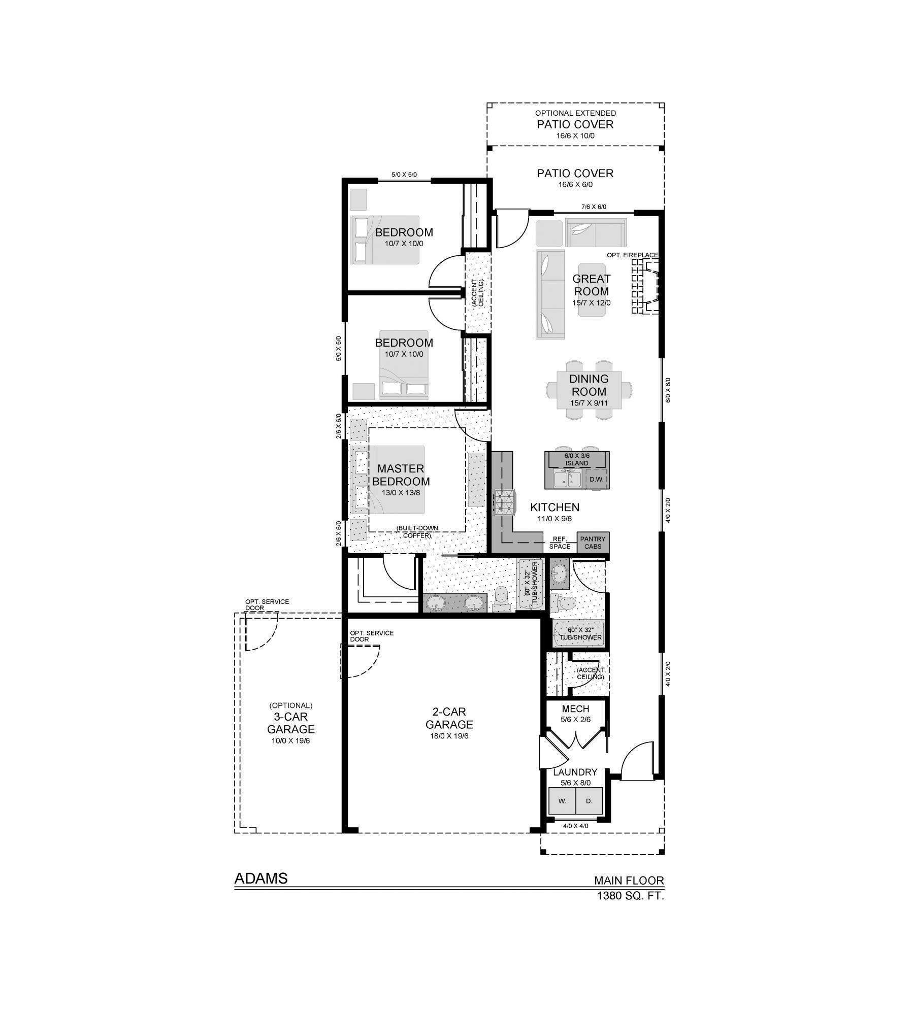 1380 Adams Mf Floor Plan Design Floor Plans House Plans