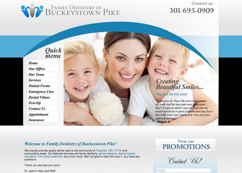 Family Dentistry Of Buckeystown Pike Website Designed By O360
