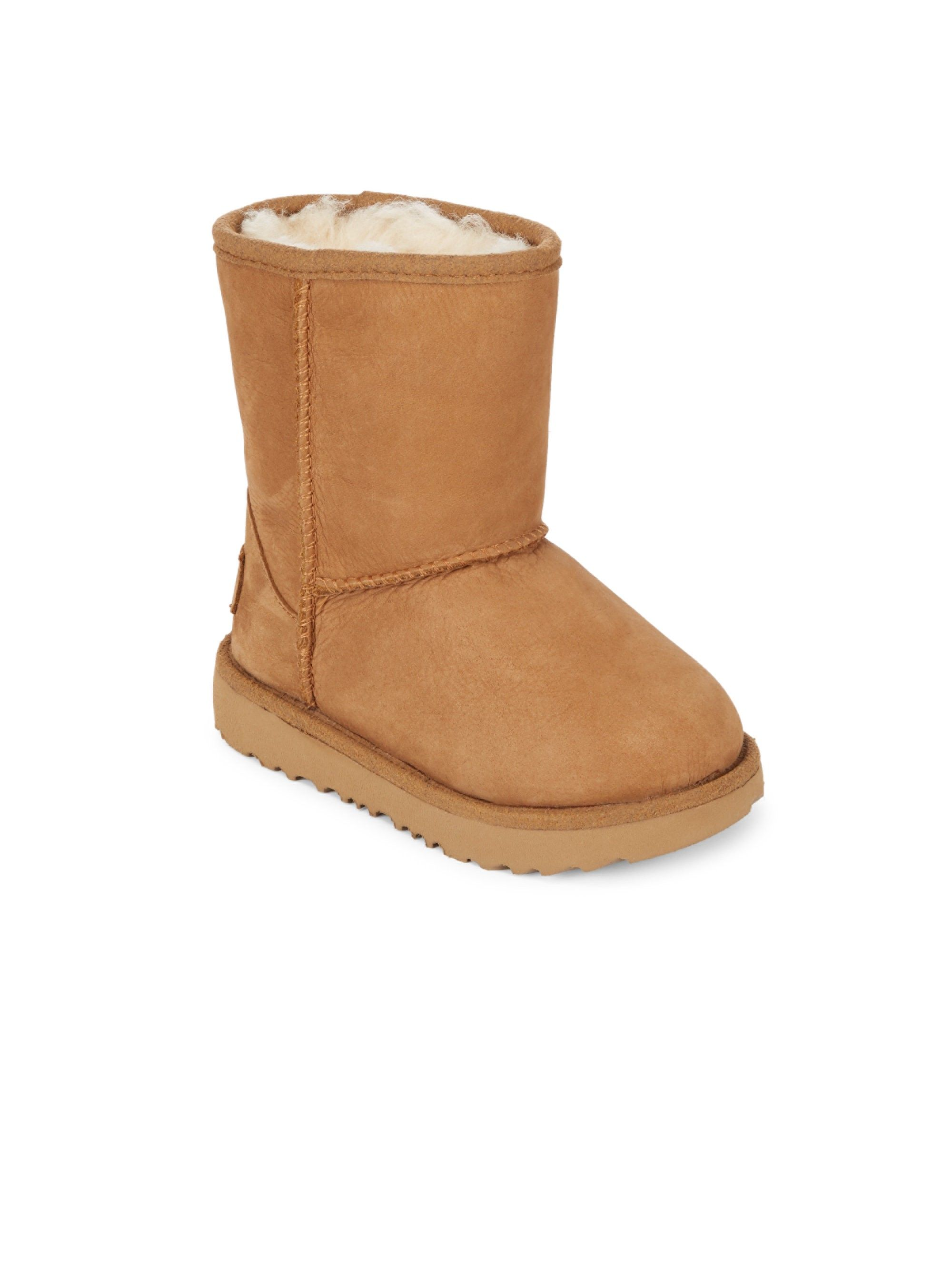 23733f501ca Ugg Australia Kid's Classic Short Faux Fur Lined & Leather Boots ...