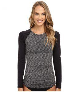 TYR Sonoma Long Sleeve Swim Shirt (Black) Women's Swimwear