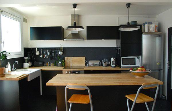 Organisation Décoration Appartement Haut Plafond Avant Après - Meuble cuisine haut pour idees de deco de cuisine