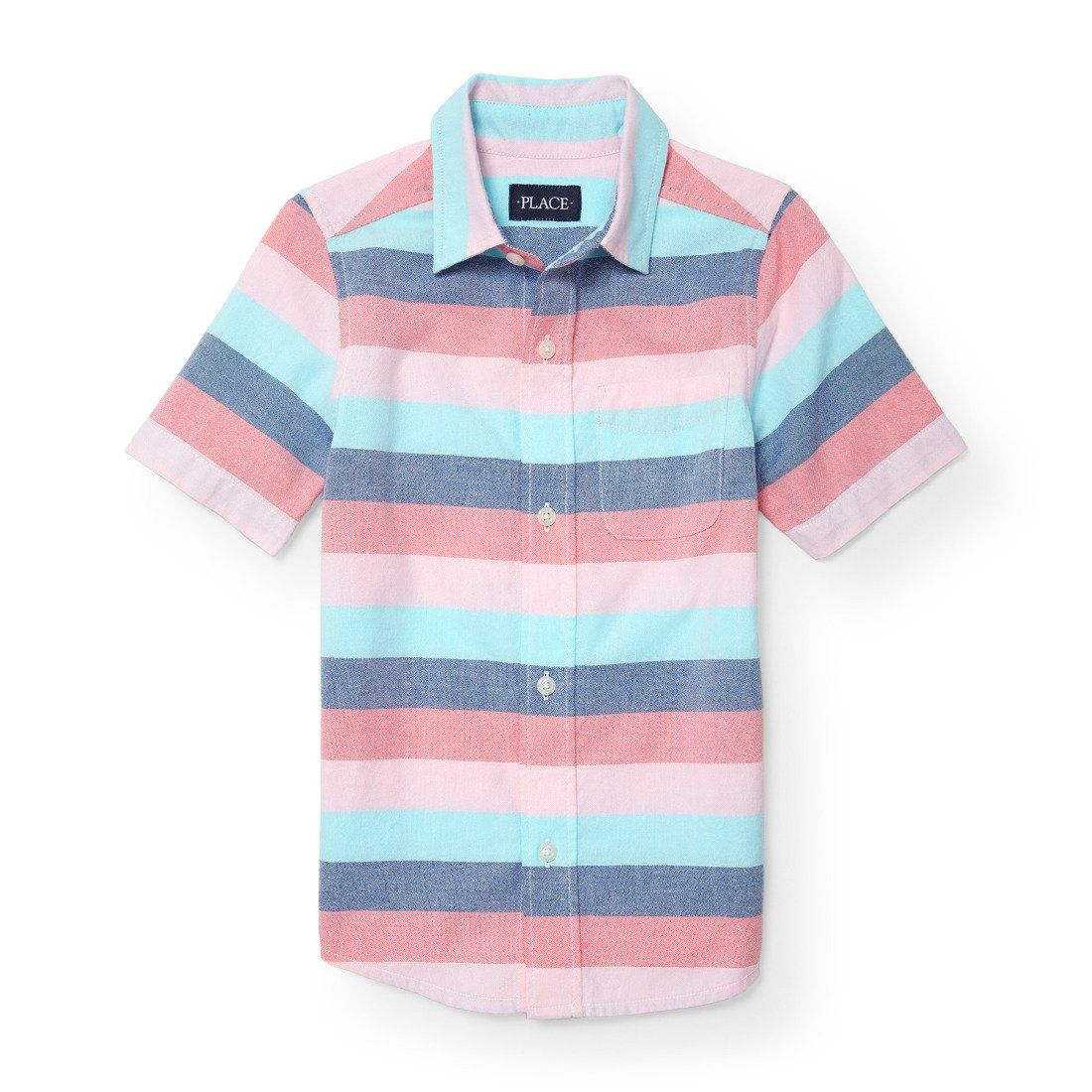 The Childrens Place Boys Short Sleeve Stripe Polos