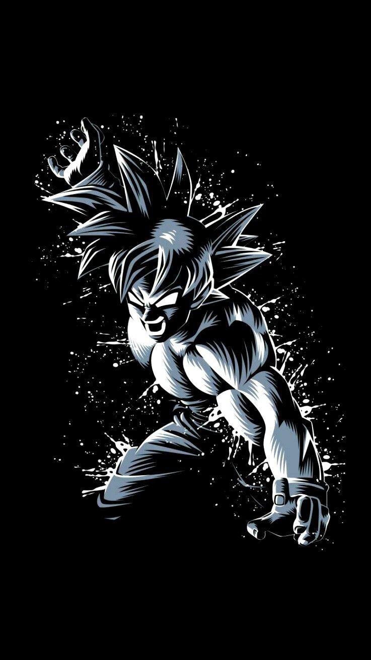 Goku Dbz Dragonball Androidwallpaper Ioswallpaper Wallpaper Black In 2020 Dragon Ball Painting Anime Dragon Ball Super Dragon Ball Super Manga