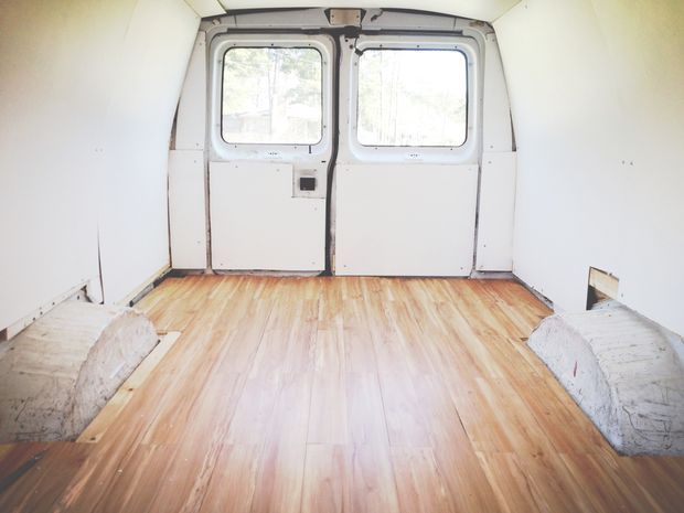 How To Lay Down A Wood Floor In Your Van Or Bus Glamping