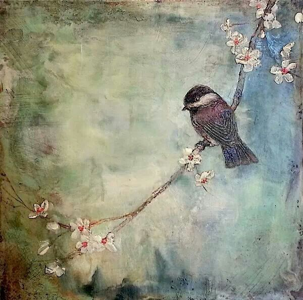 Encaustic Bird Tree Branch Painting Encaustics In 2019 Art