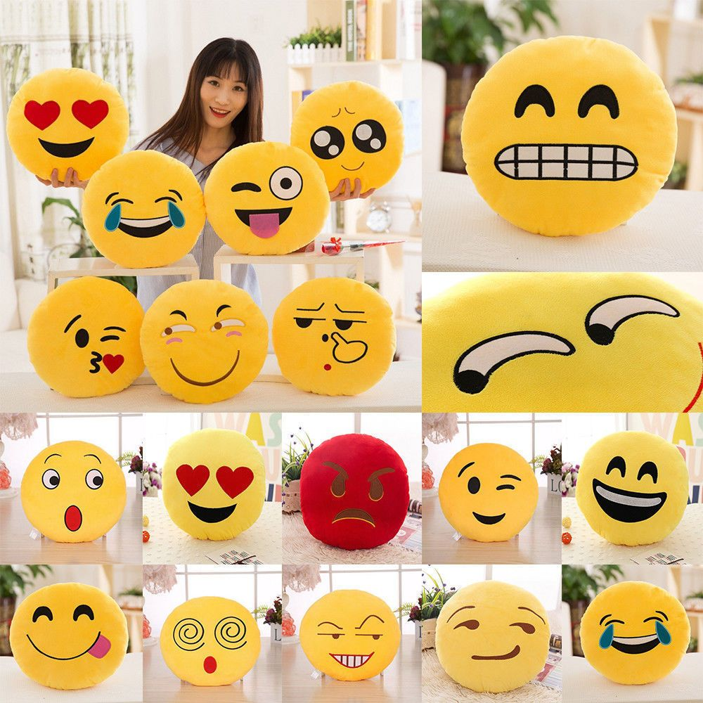 emoji pillow cushion emoticon shape cute poo throw funny