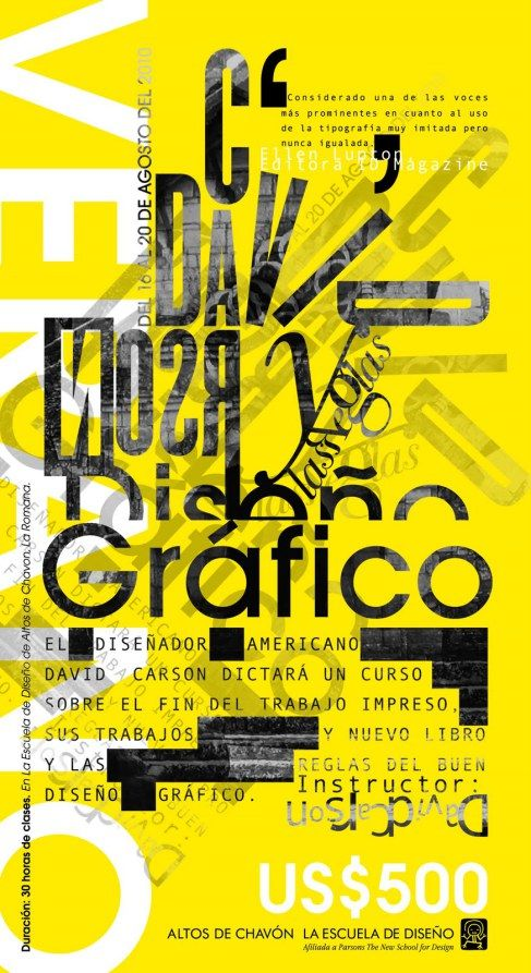 Expressive Type Poster By Andrea Falke Via Behance Typography