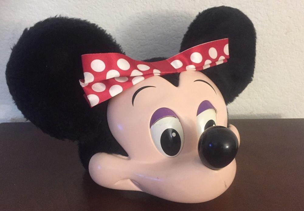 Vintage disney world minnie mouse 3d hard face snap back