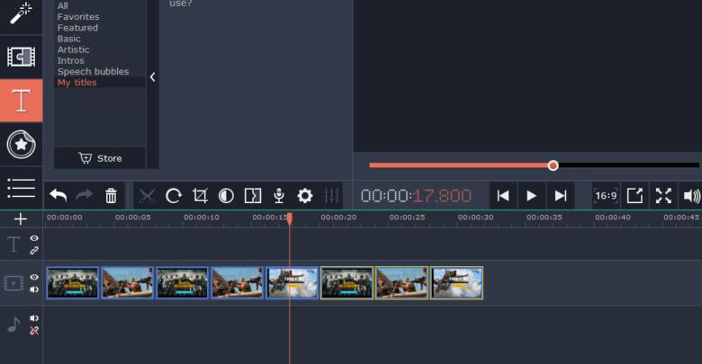 برنامج عمل فيديو من الصور مع اغنيه للكمبيوتر مجانا Movavi Video Editor Desktop Screenshot Screenshots