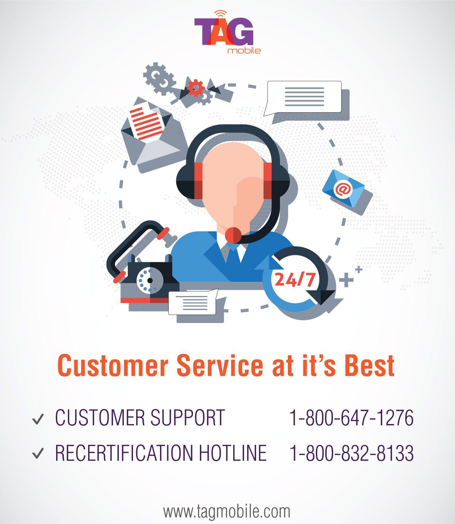 TAG Mobile Customer Care Wireless service, Customer care