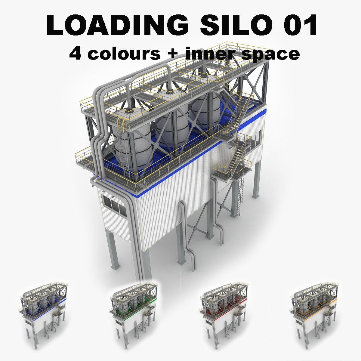 3Ds Industrial Loading Silo 01 - 3D Model