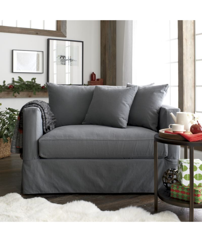 Willow Modern Slipcovered Twin Sleeper Sofa The Nest