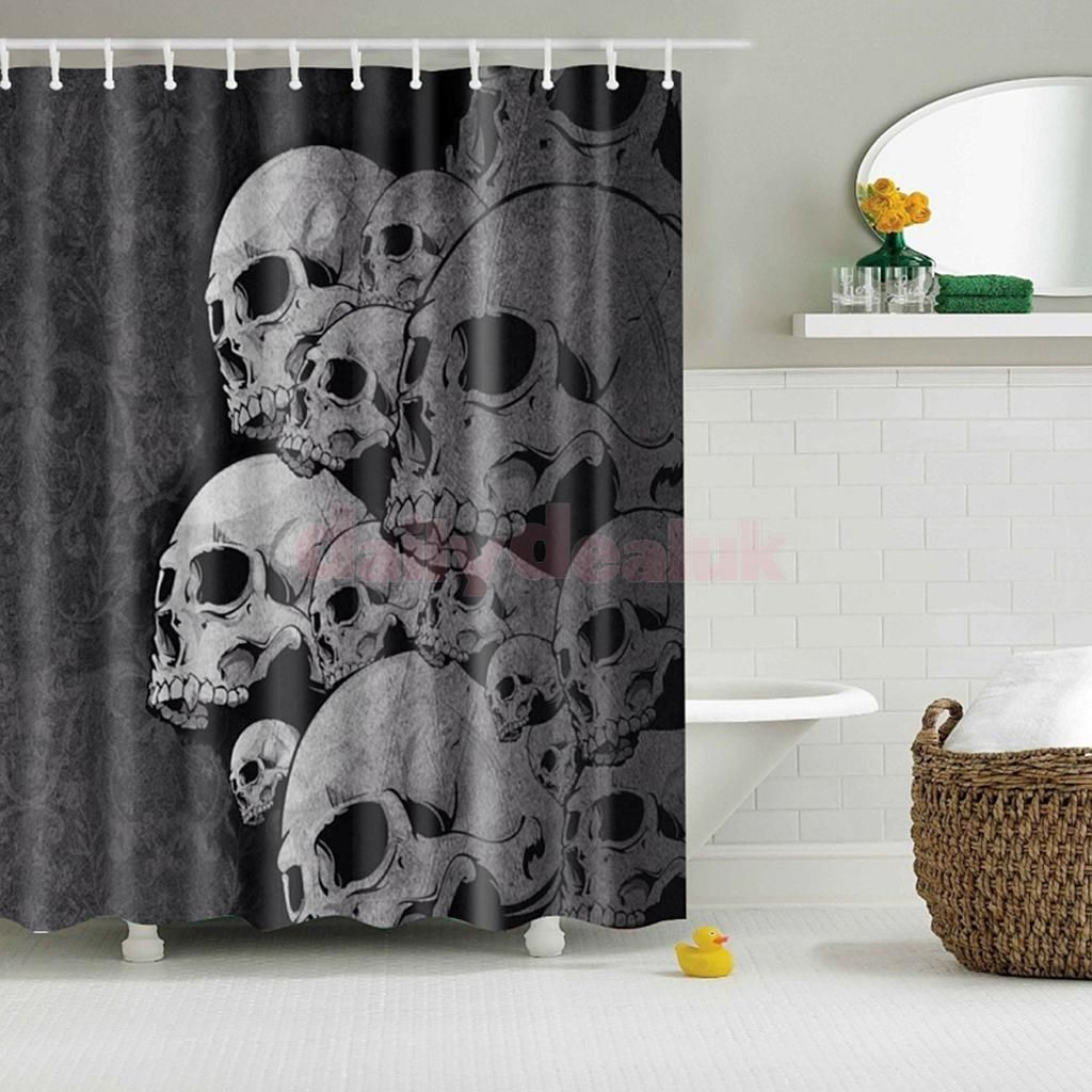 Waterproof Polyester Bathroom Shower Liner Sheer Curtain Panel W 12 Hook 15