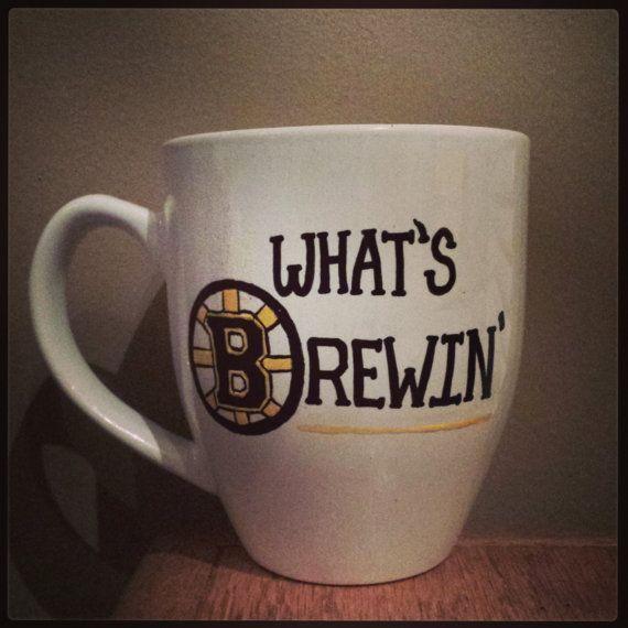 What s Brewin (Bruins) coffee mug  f81728f83b0b